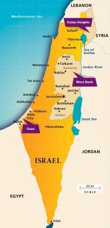 Map Israel Today